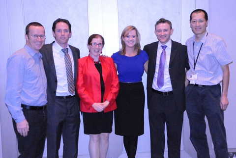 The team from Tallaght Hospital who delivered the 2012 IAEM Annual Scientific Meeting - Left to Right: Dr Turlough Bolger, Consultant in PEM; Dr. Martin Rochford, Consultant in EM; Dr. Ciara Martin, Consultant in PEM; Dr. Jean O'Sullivan, Consultant in EM; Dr Jim Gray, Consultant in EM and Dr. Stanley Koe, Consultant in PEM