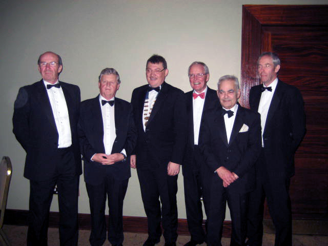 All the President's Men. The current, all four past Presidents and President Elect of the Association pictured at the Annual Gala Dinner at the end of the ASM and AGM weekend at Faithlegg House Hotel, Waterford on 16th October 2010. L to R Mr Colman O'Leary, Mr Anthony J Martin, Mr Fergal Hickey (President), Dr Peter O'Connor, Mr Leo Vella and Mr Mark Doyle (President Elect).