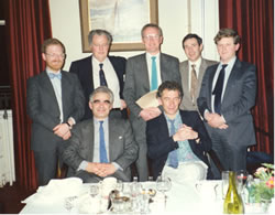Photo: Inaugural Meeting of the Irish Accident & Emergency Association (IAEA) Back Row L-R Mr PK Plunkett (St James's), Mr Cal Condon (Cork Regional), Dr Peter O'Connor (Mater), Mr Geoff Keye (Meath), Mr Anthony Martin (Galway Regional). Front Row L-R Mr Leo Vella (Beaumont), Dr Peter Keenan (Children's Hospital, Temple St.). Missing from picture Mr Robert McQuillan (St. Vincent's)