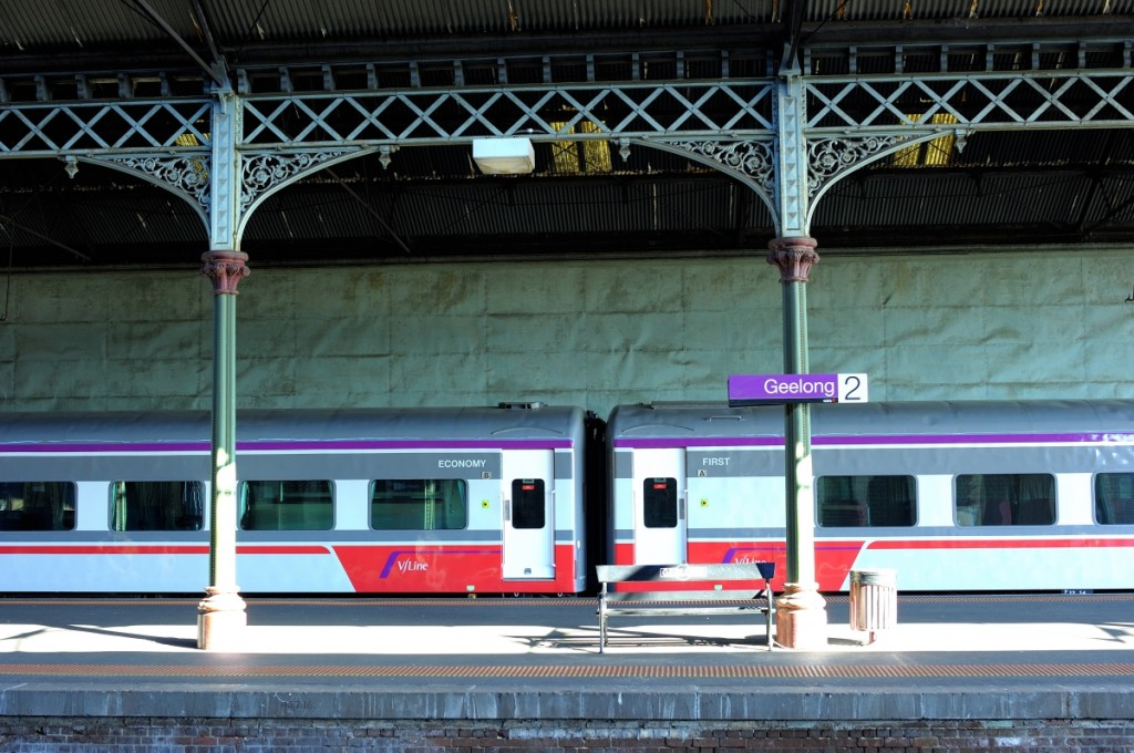 'Going places' - Geelong V-Line train station