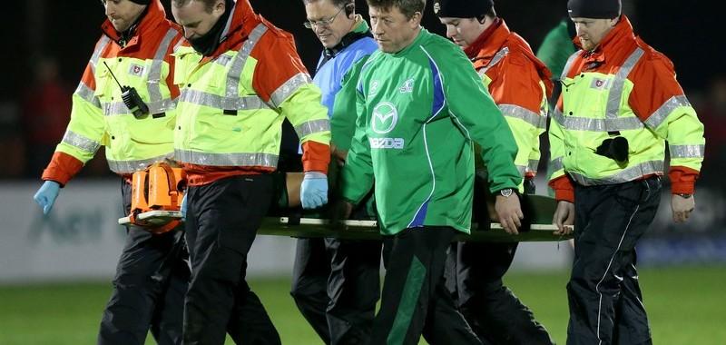 George Naoupu leaves the field injured 5/1/2013